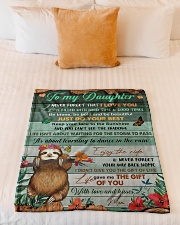 """Gift For Daughter - To My Daughter Sloth Small Fleece Blanket - 30"""" x 40"""" aos-coral-fleece-blanket-30x40-lifestyle-front-04"""