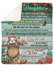"""Gift For Daughter - To My Daughter Sloth Sherpa Fleece Blanket - 50"""" x 60"""" thumbnail"""