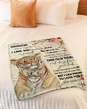 "Gift For Daughter - To My Daughter Tiger Small Fleece Blanket - 30"" x 40"" aos-coral-fleece-blanket-30x40-lifestyle-front-01"