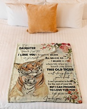 "Gift For Daughter - To My Daughter Tiger Small Fleece Blanket - 30"" x 40"" aos-coral-fleece-blanket-30x40-lifestyle-front-04"