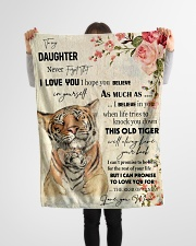"Gift For Daughter - To My Daughter Tiger Small Fleece Blanket - 30"" x 40"" aos-coral-fleece-blanket-30x40-lifestyle-front-14"