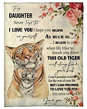 "Gift For Daughter - To My Daughter Tiger Small Fleece Blanket - 30"" x 40"" front"