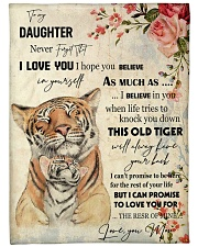 Gift For Daughter - To My Daughter Tiger Fleece Blanket tile