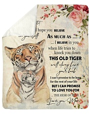 "Gift For Daughter - To My Daughter Tiger Sherpa Fleece Blanket - 50"" x 60"" thumbnail"