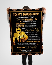 "Gift For Daughter - To My Daughter Football Small Fleece Blanket - 30"" x 40"" aos-coral-fleece-blanket-30x40-lifestyle-front-14"