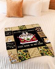 "Gift For Corgi Lovers - On A Dark Desert Highway Small Fleece Blanket - 30"" x 40"" aos-coral-fleece-blanket-30x40-lifestyle-front-01"