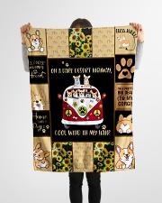 "Gift For Corgi Lovers - On A Dark Desert Highway Small Fleece Blanket - 30"" x 40"" aos-coral-fleece-blanket-30x40-lifestyle-front-14"
