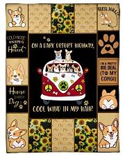 """Gift For Corgi Lovers - On A Dark Desert Highway Small Fleece Blanket - 30"""" x 40"""" front"""