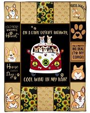 Gift For Corgi Lovers - On A Dark Desert Highway Fleece Blanket tile