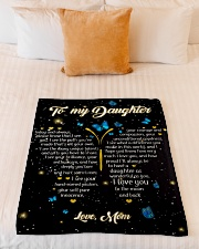 """Gift For Daughter - To My Daughter Butterfly Small Fleece Blanket - 30"""" x 40"""" aos-coral-fleece-blanket-30x40-lifestyle-front-04"""