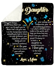 """Gift For Daughter - To My Daughter Butterfly Sherpa Fleece Blanket - 50"""" x 60"""" thumbnail"""