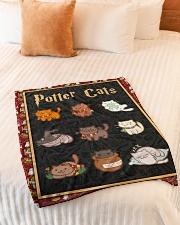 """Potter Cats - Perfect Gift For Fans Small Fleece Blanket - 30"""" x 40"""" aos-coral-fleece-blanket-30x40-lifestyle-front-01"""