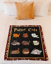 """Potter Cats - Perfect Gift For Fans Small Fleece Blanket - 30"""" x 40"""" aos-coral-fleece-blanket-30x40-lifestyle-front-04"""