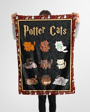 """Potter Cats - Perfect Gift For Fans Small Fleece Blanket - 30"""" x 40"""" aos-coral-fleece-blanket-30x40-lifestyle-front-14"""