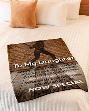 """Gift For Daughter - To My Daughter Baseball Small Fleece Blanket - 30"""" x 40"""" aos-coral-fleece-blanket-30x40-lifestyle-front-01"""