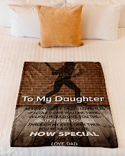 """Gift For Daughter - To My Daughter Baseball Small Fleece Blanket - 30"""" x 40"""" aos-coral-fleece-blanket-30x40-lifestyle-front-04"""