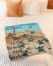 """Gift For Daughter - To My Daughter Turtle Small Fleece Blanket - 30"""" x 40"""" aos-coral-fleece-blanket-30x40-lifestyle-front-01"""