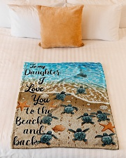 """Gift For Daughter - To My Daughter Turtle Small Fleece Blanket - 30"""" x 40"""" aos-coral-fleece-blanket-30x40-lifestyle-front-04"""