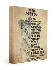 Gift For Son - To My Son Lion 11x14 Gallery Wrapped Canvas Prints front