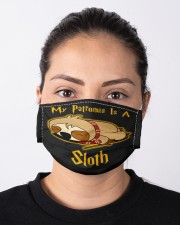 My Patronus Is A Sloth Cloth face mask aos-face-mask-lifestyle-01