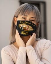 My Patronus Is A Sloth Cloth face mask aos-face-mask-lifestyle-17
