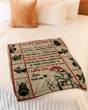 """Gift For Dad - To My Father Knight  Small Fleece Blanket - 30"""" x 40"""" aos-coral-fleece-blanket-30x40-lifestyle-front-01"""