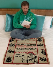 """Gift For Dad - To My Father Knight  Small Fleece Blanket - 30"""" x 40"""" aos-coral-fleece-blanket-30x40-lifestyle-front-06"""