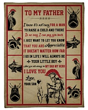 """Gift For Dad - To My Father Knight  Small Fleece Blanket - 30"""" x 40"""" front"""