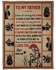 Gift For Dad - To My Father Knight  Fleece Blanket tile