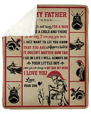 """Gift For Dad - To My Father Knight  Sherpa Fleece Blanket - 50"""" x 60"""" thumbnail"""