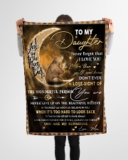 """Gift For Daughter - To My Daughter Bear Small Fleece Blanket - 30"""" x 40"""" aos-coral-fleece-blanket-30x40-lifestyle-front-14"""
