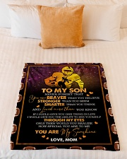 """Gift For Son - To My Son Football Small Fleece Blanket - 30"""" x 40"""" aos-coral-fleece-blanket-30x40-lifestyle-front-04"""