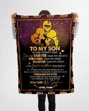 """Gift For Son - To My Son Football Small Fleece Blanket - 30"""" x 40"""" aos-coral-fleece-blanket-30x40-lifestyle-front-14"""