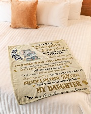 """Gift For Daughter - To My Daughter Elephant Small Fleece Blanket - 30"""" x 40"""" aos-coral-fleece-blanket-30x40-lifestyle-front-01"""