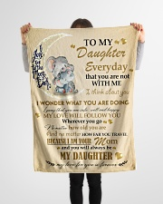 """Gift For Daughter - To My Daughter Elephant Small Fleece Blanket - 30"""" x 40"""" aos-coral-fleece-blanket-30x40-lifestyle-front-14"""