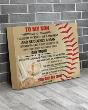 Gift For Son - To My Son Baseball 14x11 Gallery Wrapped Canvas Prints aos-canvas-pgw-14x11-lifestyle-front-12