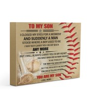 Gift For Son - To My Son Baseball 14x11 Gallery Wrapped Canvas Prints front
