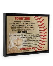 Gift For Son - To My Son Baseball 14x11 Black Floating Framed Canvas Prints thumbnail