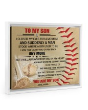 Gift For Son - To My Son Baseball 14x11 White Floating Framed Canvas Prints thumbnail