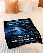 """Gift For Husband - To My Husband Meeting You Was Small Fleece Blanket - 30"""" x 40"""" aos-coral-fleece-blanket-30x40-lifestyle-front-01"""