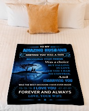 """Gift For Husband - To My Husband Meeting You Was Small Fleece Blanket - 30"""" x 40"""" aos-coral-fleece-blanket-30x40-lifestyle-front-04"""