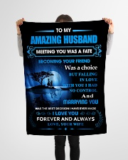 """Gift For Husband - To My Husband Meeting You Was Small Fleece Blanket - 30"""" x 40"""" aos-coral-fleece-blanket-30x40-lifestyle-front-14"""