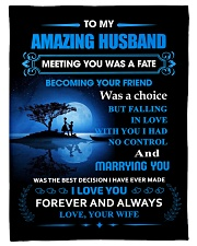 """Gift For Husband - To My Husband Meeting You Was Small Fleece Blanket - 30"""" x 40"""" front"""