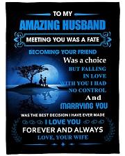Gift For Husband - To My Husband Meeting You Was Fleece Blanket tile