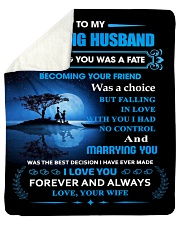 "Gift For Husband - To My Husband Meeting You Was Sherpa Fleece Blanket - 50"" x 60"" thumbnail"