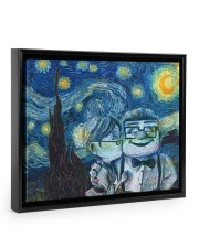 Gift For Wife - To My Wife Van Gogh Art 14x11 Black Floating Framed Canvas Prints thumbnail