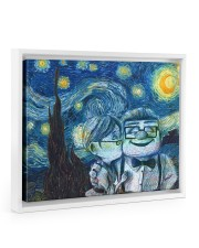 Gift For Wife - To My Wife Van Gogh Art 14x11 White Floating Framed Canvas Prints thumbnail