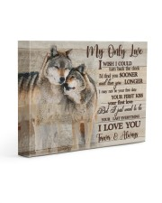 Gift For Wife - Gift For Husband My Only Love  14x11 Gallery Wrapped Canvas Prints front