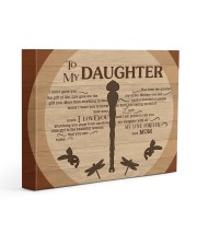 Gift For Daughter - To My Daughter Dragonfly 14x11 Gallery Wrapped Canvas Prints front