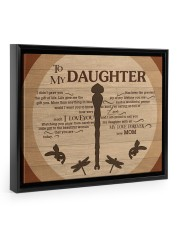 Gift For Daughter - To My Daughter Dragonfly 14x11 Black Floating Framed Canvas Prints thumbnail